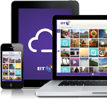 Tablet, phone and computer showing BT Cloud