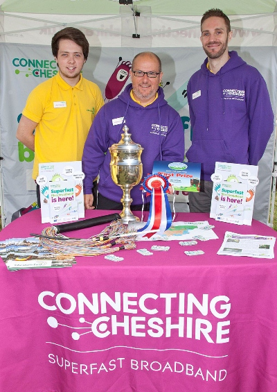 Connecting Cheshire Team at the Nantwich Show